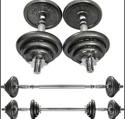 💪 20kg Adjustable Dumbbell Set with Barbell by Proiron for Home Gym Weights