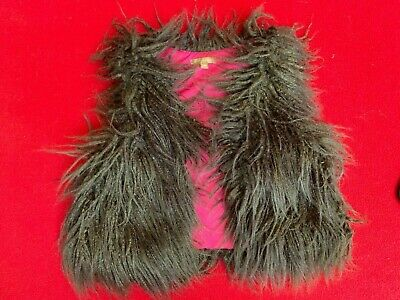 I Love Gorgeous girls gilet, age 8-9, brown shaggy/furry/funky.  Designer