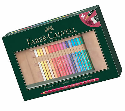 Faber-Castell 110030 Polychromos Coloured Pencils Set of 30 with Leather Pencil