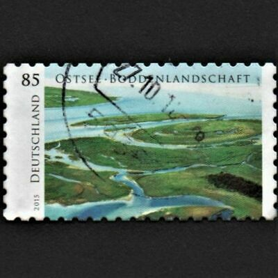 OLD STAMP GERMANY 2015 cv£5.50 WESTERN POMERANIA LAGOON NATIONAL PARK USED UNH