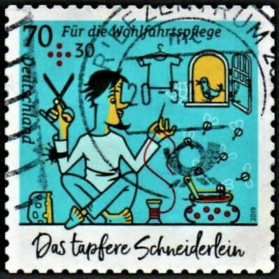 OLD STAMP GERMANY 2019 cv£6.25 THE VALIANT LITTLE TAILOR 70 + 30 USED UNH