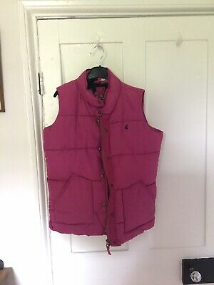 Girls Joules Pink  Body Warmer/gilet Age 11-12yrs