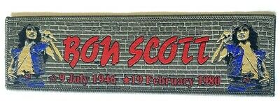 AC/DC - Bon Scott - Superstripe Tribute Woven Patch Rare aufnäher écusson toppa