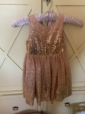 Beautiful Girls Party Dress Age 3-4 Years And Matching Furry Gilet