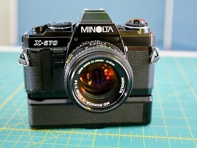 Minolta X-570 with 50mm f1.4 lens & Autowinder G