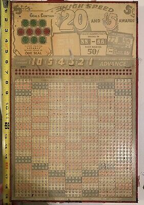 Antique Punch  board
