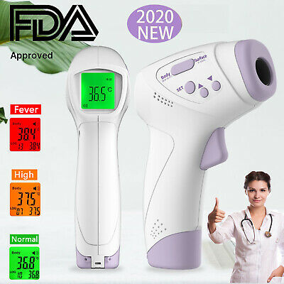 Medical NON-CONTACT Body Forehead IR Infrared Laser Digital Thermometer FDA CE