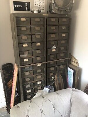 vintage metal industrial drawer cabinet Bank Of Drawers