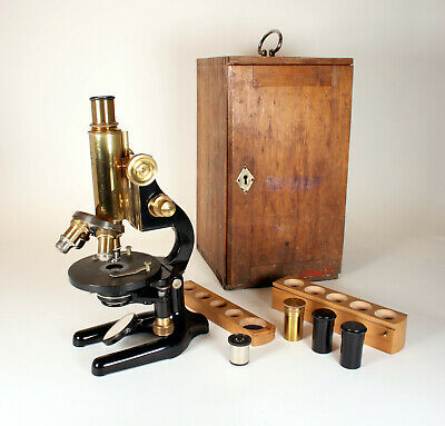 Seltenes antikes Messing Mikroskop Srb a Stys / Zeiss –  antique microscope