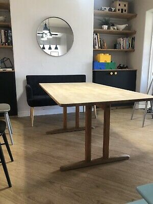 VTG Solid Pine Mid Century REFECTORY Dining TABLE Kitchen 50s 60s Retro SCANDI