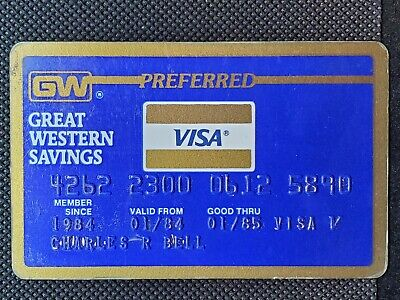 Great Western Savings Preferred Visa exp 1985♡Free Shipping♡cc1425♡
