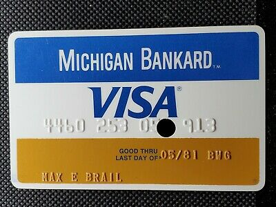 Michigan Bankard Visa credit card exp 1981♡free ship♡cc1466 ~ canceled