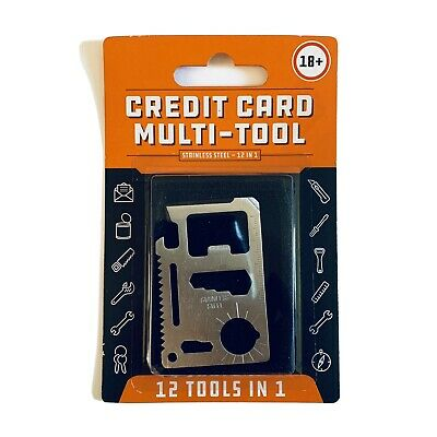 Credit Card Multi-Tool Stainless Steel 12 In 1
