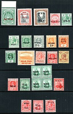 GB Commonwealth War Tax Selection of 25 All *Different Mounted Mint. See Descpn.
