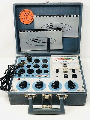 B&K DynaScan Model 606 Dyna Jet Portable Tube Tester With Manuals & Straightener
