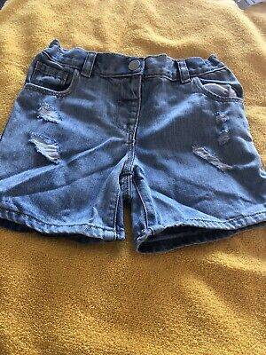 """Next""Young Girls Denim Shorts Age 5/6 Years In Excellent Condition"
