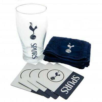 Tottenham Hotspur Spurs Fc Mini Bar Set Pint Glass Fathers Day Birthday Gift