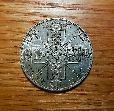 1890 Great Britain Double Florin Great Details
