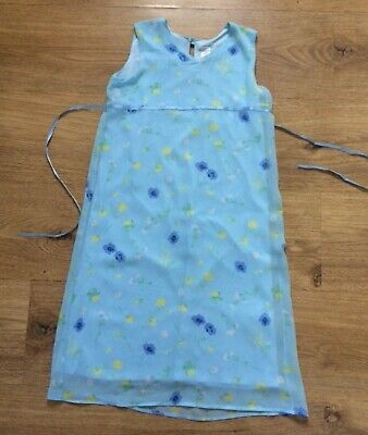 Girls dress Age 6 Marks Spencer summer M&S Blue floral Layered Chiffon