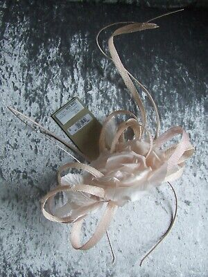 NEW Jenny Packham Pink Twisted Quill Fascinator Wedding Party Evening Races