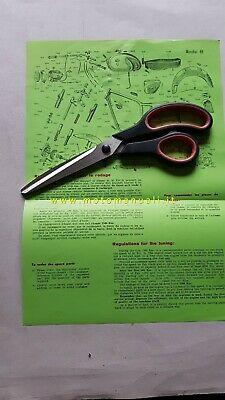 Mondial 88 1959 catalogo ricambi + istruzioni uso parts catalogue + owner manual