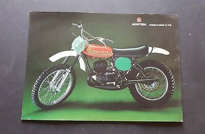 Montesa Cappra 250  V 75 cross depliant originale italiano brochure