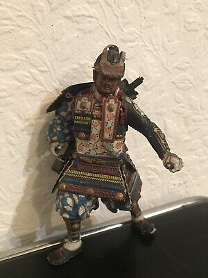 Antique Hand Painted Samurai Figure In Lead 6""