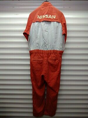 """""""Nissan Red Stage"""" Coverall   Showa Rare Jdm Skyline Gtr Pulsar Stagea Sunny"""