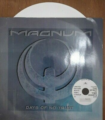 "Magnum Days of no trust Ltd 12"" white vinyl"