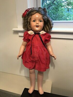 "Vintage 25"" Shirley Temple Ideal Composition Doll Sleep Eyes Open Mouth Teeth"