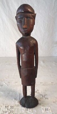 Antique Carved Wood Figure From The Pacific Rim