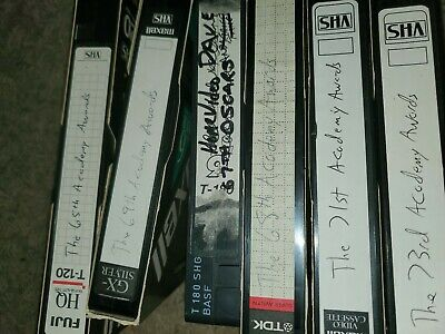 Used vhs tapes sold as blank tv shows commercials 1990s oscars