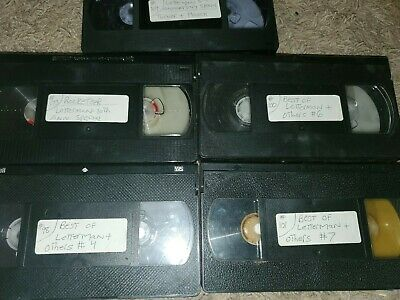 Used vhs tapes sold as blank tv shows  letterman