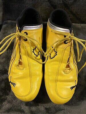 Rare Mens Puma Ferrari Yellow Future Cat Sneaker Shoes Size 10.5 Limited Edition