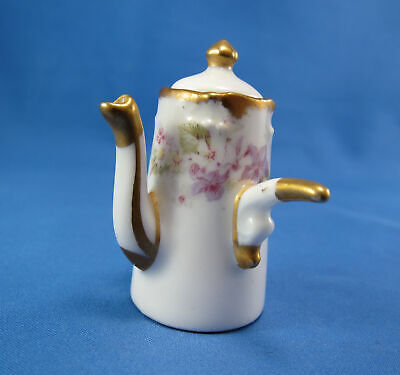 Antique Elite Works, Limoges France Miniature Porcelain Chocolate Pot