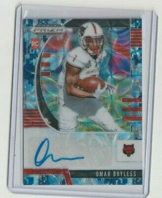 Omar Bayless 2020 Prizm Draft Picks Rookie Camo Prizm Auto Card # 21/25 Rc !!