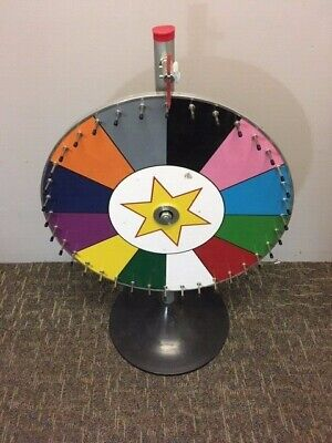 12-Section Gambling Gaming Wheel With Colored Sections