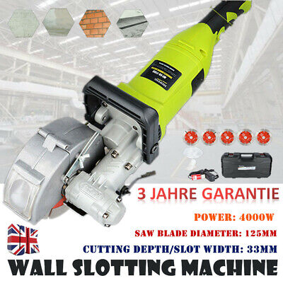 33mm Electric Wall Chaser Groove Cutting Machine Wall slotting machine 4KW 220V