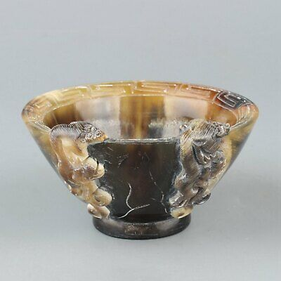 Chinese Exquisite Handmade OX horn cup