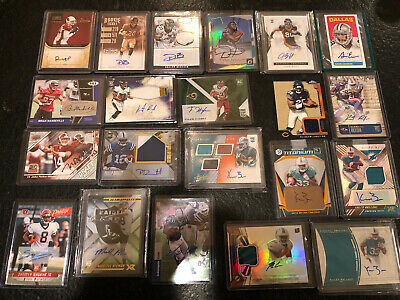 21 Card Auto Game Used Lot All Football