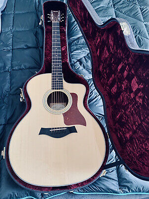 Taylor 214ce DLX with Hard Case Grand Auditorium Acoustic Electric Guitar