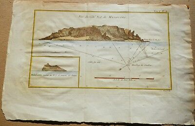 Nautical chart of  Alejandro Selkirk Island (Isla Màs Afuera)-Chile- From 1773