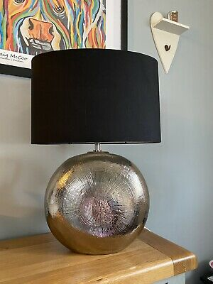 Pair Of Large Table Lamps With Black Shades