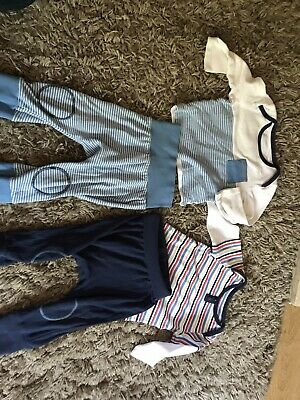 2x Baby Boys Outfit/pj Set 9-12 Months Marks And Spencer