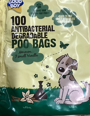 Dog Poo Bag Poop Scoop Bag 100 Degradable Antibacterial Vanilla Scented