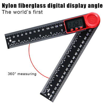 """Electronic LCD Digital Angle Finder 8"""" 200mm Protractor Ruler Goniometer 2 IN 1"""
