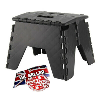 Plastic Multi Purpose Folding Step Up Stool Home Kitchen Easy Storage Foldable