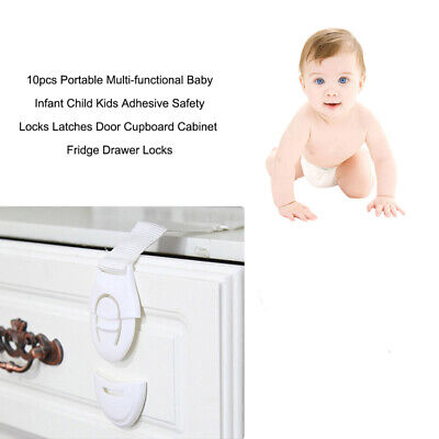 20Pcs Child Baby Safety Locks Cabinet Locks Drawer Locks for Refrigerators Doors