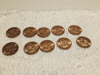 UNCIRCULATED 1965 Half penny Great Britain nice select lot Out of original bag