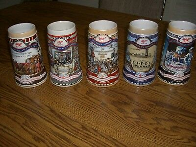 5 Miller Steins/Great American Achievements/